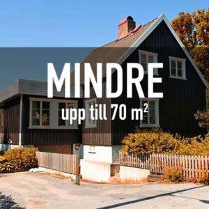 Mindre - Upp till 70 m²