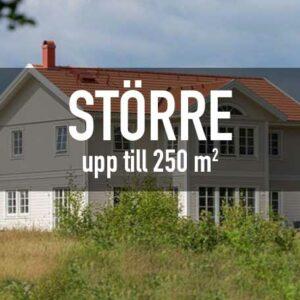 Större - Upp till 250 m²